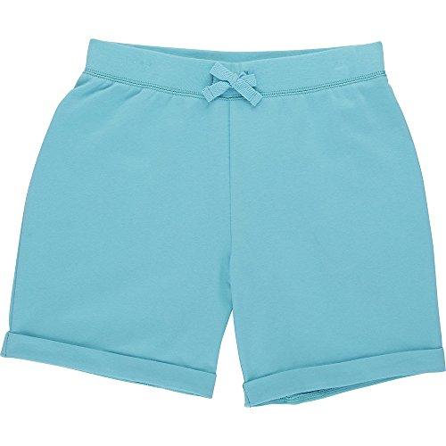 French Toast Big Girls' Bermuda Knit Short, Blue Curaco, 10/12
