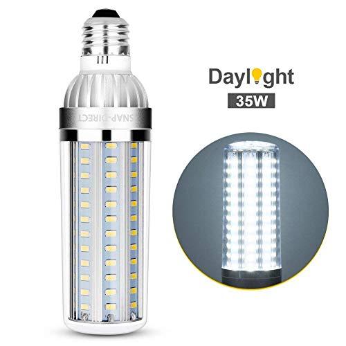 Super Bright LED Light Bulb 35W E26 E27 Base Brightest Corn Bulb 250 Watt Equivalent 6500K 3800Lm LED Bulb Daylight Non-Dimmable LED for Commercial Ceiling Office Factory Barn Garage Warehouse Street