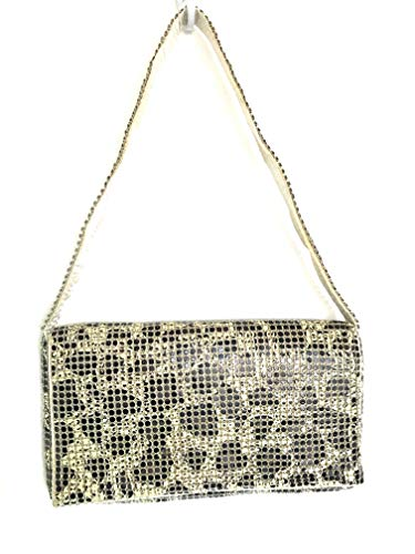 (Womens Evening Clutch Metal Mesh purses handbags with shoulder strap for Coctail Party Prom Wedding (Beige Animal print))
