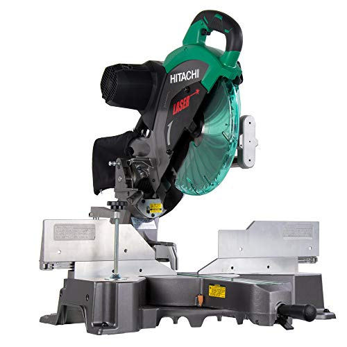 Hitachi C12RSH2 15 Amp 12 in. Dual Bevel Sliding Compound Miter Saw with Laser Marker (Renewed) (Hitachi 10 Inch Sliding Compound Miter Saw)