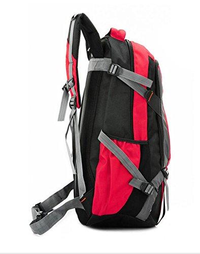 Alpinismo Al Aire Libre Mochila De Viaje 55L,Red Red