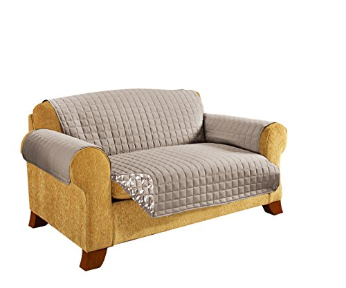 CELINE LINEN REVERSIBLE QUILTED Furniture Protector- Special Treatment Microfiber As soft as Egyptian Cotton