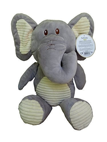 Kellybaby Cuddle Grey Elephant w/ Corduroy Trim , Rattle and comfort toy (Baby Comfort Toy)