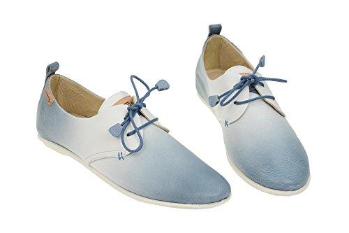 Mujeres Zapatos con cordones blau-kombi 917-DG7123 DENIM denim white