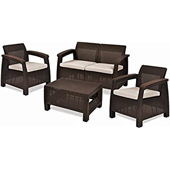 Amazon Tangkula 4 PCS Patio Sofa Set Outdoor Loveseat Sofas