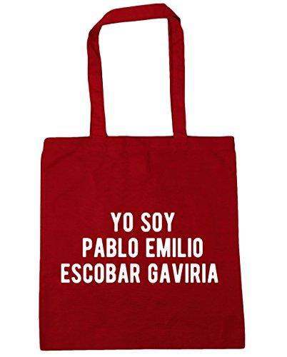 HippoWarehouse Yo Soy Pablo Emilio Escobar Gaviria Tote Compras Bolsa de playa 42cm x38cm, 10litros Classic Red