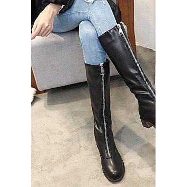 Altas Cn39 Us8 Botas Puntera Confort De Para Zapatos De Ue39 Moda Uk6 Mujer Botas Negro UK6 EU39 Casual CN39 Redonda Negro Pu US8 Invierno Rodilla RTRY Botas xn86BWqvHv