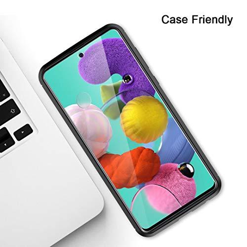TAURI [3 Pièces Protection écran pour Samsung Galaxy A51 Verre Trempé, [9H Dureté][sans Bulles][Anti Rayures] Film Protection écran