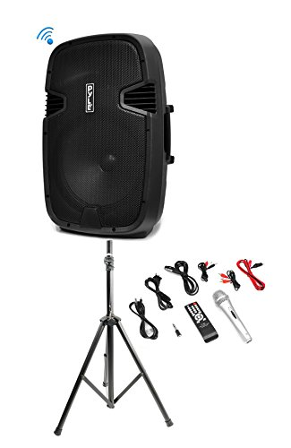 Pyle PPHP122BMU 800W Bluetooth PA DJ Loudspeaker Speaker + A