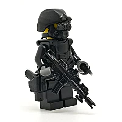 Modern Brick Warfare Special Forces Soldier Recoil Custom Minifigure: Toys & Games