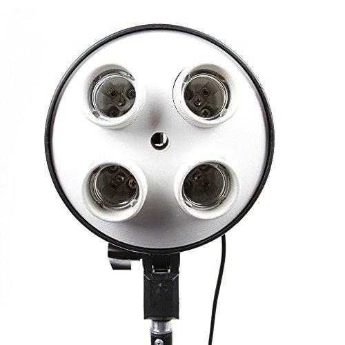 SHOPEE 4 in 1 E27 Light Socket with Light Stand Swivel Mount & Umbrella Holder for Photography, Film, Video Studio (Pack of 1)