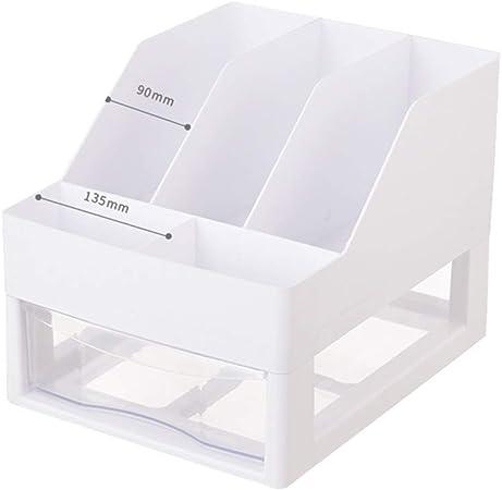 Organizadores de documentos Caja de Almacenamiento para Oficina Armario de Almacenamiento con cajones de plástico Estante para Oficina Caja de Almacenamiento para Archivos: Amazon.es: Hogar