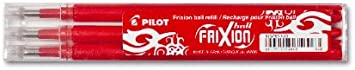 4 Set /á 3 Stk verschiedene Farben Pink Pilot FriXion Ball Tintenroller 0,7 Ersatzminen Nachf/üllminen