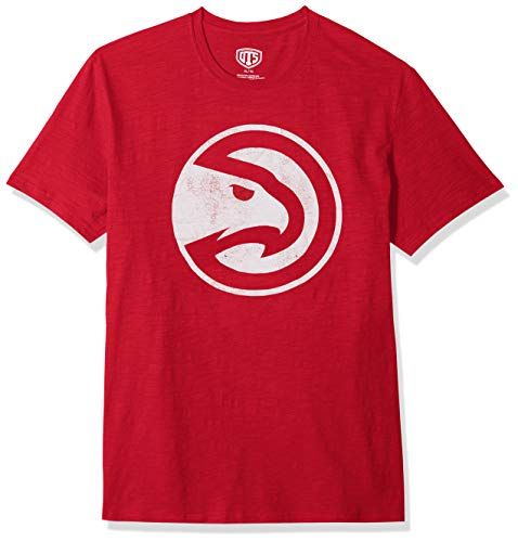 NBA Atlanta Hawks Male OTS Slub Distressed Tee, Red, Medium ()