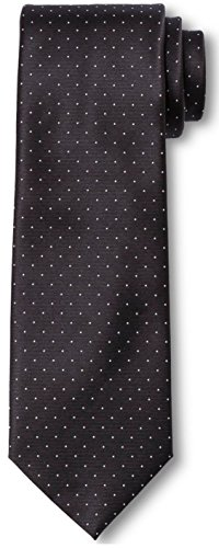 Tie City Of Silk London - City of London Men's Pindot Extra Long Tie (Extra Long, Black Pindot)