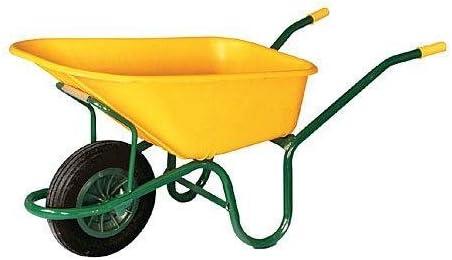 Theca M95327 - Carretilla de obra nylon amarilla c1/570: Amazon.es: Bricolaje y herramientas