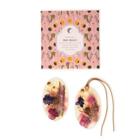 Rosy Rings Oval Botanical Wax Sachets - Iris Moon