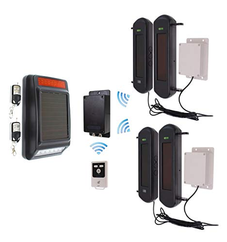 No Power Required 3G GSM Wireless Perimeter Alarm With Siren Kit 2 (No Sim Card)