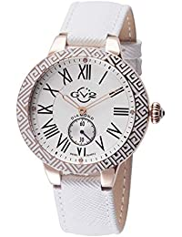 by Gevril Astor Enamel Womens Diamond Swiss Quartz White Leather Strap Watch, (Model: 9126)