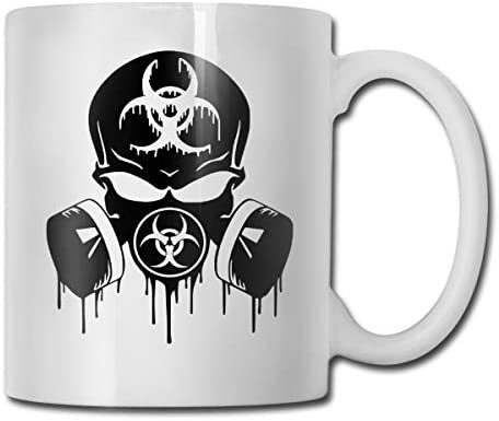 antspuent Respirator Gas Mask Skull Funny Coffee Mug - 11 Ceramic Coffee Cup - Best Gifts Idea for Christmas, Valentine and Birthday, Father's Day and Mother's Day Cup