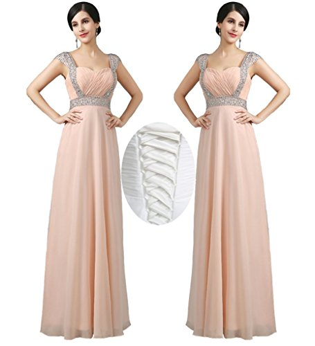 Prom Beaded Bridesmaid Waist Red Empire Gowns Evening Wedding Dress Long Sexy Formal qI1UxCwq6