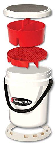 Shurhold 2463 5 Gallon White Deluxe Bucket Kit 5 Gallon Bucket Holder