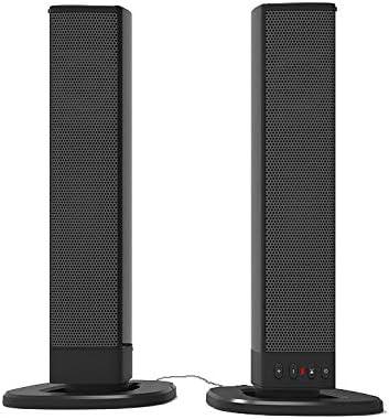 LAHappy Barra De Sonido, Barra De Sonido Extraíble para, Barra De Sonido para TV De 19 Pulgadas, Altavoz Bluetooth para PC con Graves Profundos, 75Db, Sonido Envolvente 3D, Soporte USB/AUX/TF: Amazon.es: Hogar