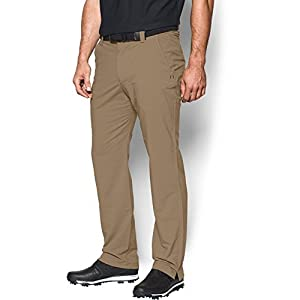 Under Armour Men's Match Play Golf Pants – Straight Leg, Canvas/True Gray Heather, 34/32