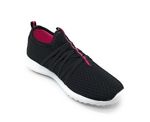 Weight Fashion EASY21 Shoes Sports Women Black01 Athletic Sneakers Casual Breathable Berry Blue Light nRHWTT