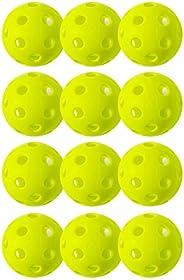 Franklin Sports X-26 Pickleballs - Indoor - 12 Pack - USA Pickleball Approved - Lime Green