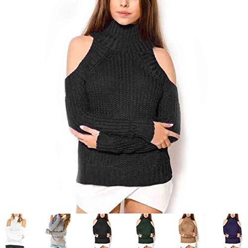 Maglieria Spalline marca Jumper Invernali Senza Tops Lunga Pullover Fit Pullover Manica Confortevole Collo Pullover Elegante A Alto Autunno Donna Mode Slim di Maglia Moda zwtY6xY7
