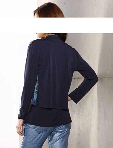 mujer Alba Chaqueta de azul Moda 66FAxwqv