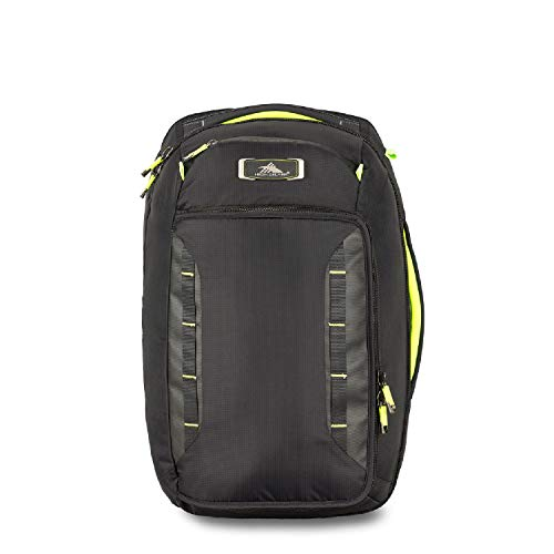 - High Sierra AT8 Convertible Carry-On Backpack; Black/Zest
