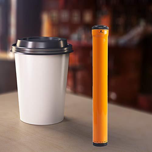 Single Cigar Humidor Tube , Portable Tube Holder,Travel Single Cigar Case ,Stainless Steel Set of 1. (Yellow)-FULU ()
