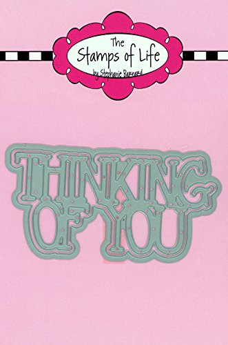Thinking of You Word Metal Die Cuts #2 for Scrapbooking and Card-Making by The Stamps of Life - Sentiments Die Cuts