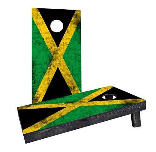 玄関先迄納品 Custom CCB1208-2x4-C Cornhole Boards CCB1208-2x4-C Worn National [並行輸入品] (Jamaica) Cornhole Flag Cornhole Boards [並行輸入品] B07HLH155M, 淡路町:413ac706 --- mail.mrplusfm.net