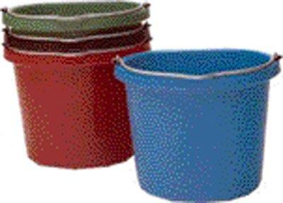 (18.9l, bluee) Fortiflex Flat Back Feed Bucket for Horses, 18.9l, bluee