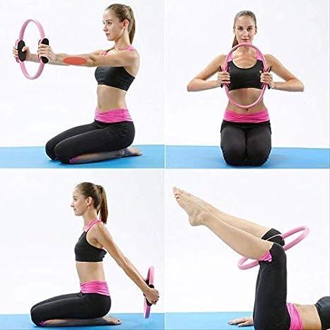 HLKJ Professionnel Yoga Cercle Pilates Sport Anneau Magique Femmes Fitness Cin/étique R/ésistance Cercle Gym Workout Pilates Accessoires 5 Couleur