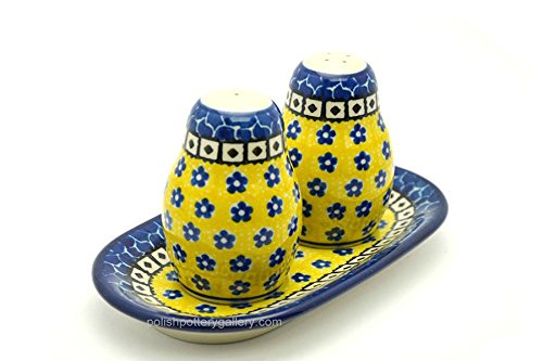 Polish Pottery Salt & Pepper Set - Sunburst