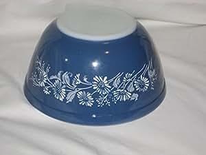 "Vintage Pyrex "" Colonial Mist Daisy "" 1 1/2 Quart Mixing Nesting Batter Bowl"