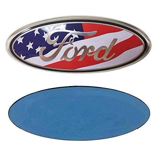 Ford 7 Inch Front Grille Tailgate Emblem 3d Oval American Flag 3m Double Side Adhesive Tape Sticker Badge For Ford Escape Excursion Expedition Freestyle F 150 F 250 F350