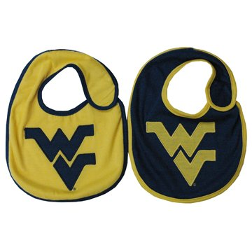 - West Virginia Mountaineers NCAA Baby Bibs 2 Pack