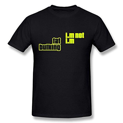 Guys Fat Bulking Pre-cotton T Shirt Size XS Color Black