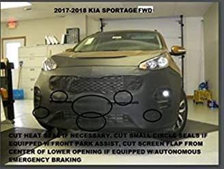 SUBARU,IMPREZA,,Wagon Only EXCLUDES WRX,2004 2005 Lebra 2 piece Front End Cover Black Fits Car Mask Bra