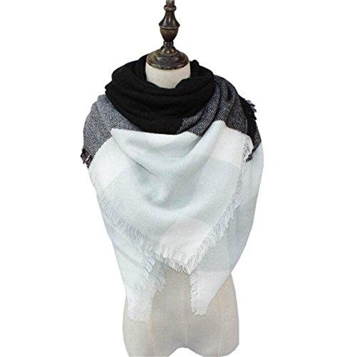 Womens Scarves Fall Fashion Scarfs Soft Plaid Blanket Scarf For Women Winter Shawl Cape Scarf Wrap