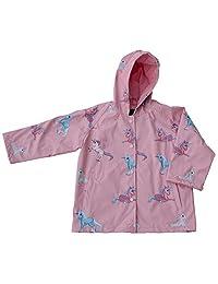 Foxfire Little Girls Pink Blue Unicorn Print Hooded Lined Raincoat 1T-6