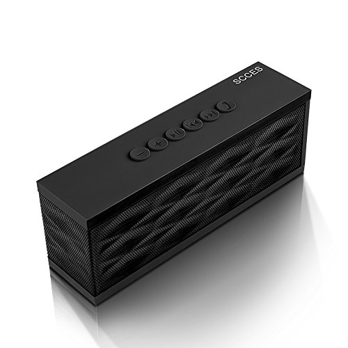 SCCES Bluetooth Speaker, MusicBox II Portable Bluetooth Speaker, 10W with Dual Drivers & Microphone