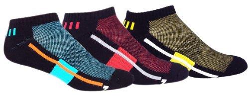 MOXY Socks No-Show Performance AiRFLeX Multi-Color 3-Pack by MOXY Socks