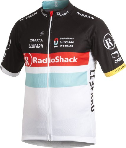 Craft Men's Radio Shack Nissan Trek Replica Short Sleeve Jersey, White, Small