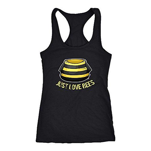 Beekeeping Racerback Tank Top T-Shirt. Funny Beekeeping Tank. Cool Shirt for Beekeeping (S)
